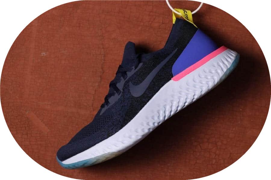 Nike Epic React Flyknit黑蓝 耐克瑞亚跑步鞋高端版本原厂材料原盒钢印 货号:AQ0067-400