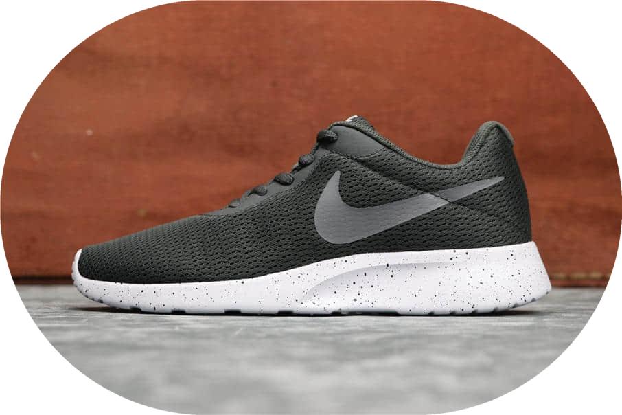 Nike Roshe Run TANJUN绿黑 耐克奥运伦敦三代网布透气高品质真标 货号:812655-011