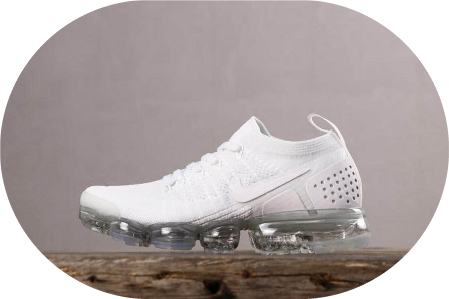 Nike Air Vapromax Flyknit 2.0耐克全掌气垫2.0全白公司级带半码 进口针织飞线网面 货号:942842-100
