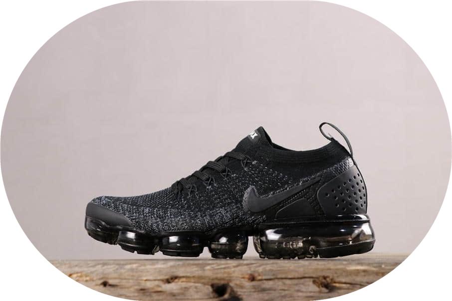 Nike Air Vapormax Flyknit 2.0耐克全掌气垫2.0全黑公司级带半码 市面最强性价比版本 货号:942842-011