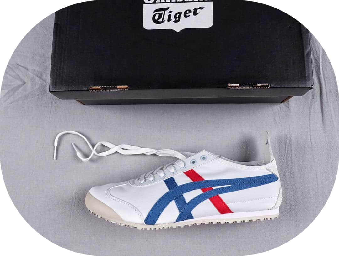 亚瑟士Onitsuka Tiger Mexico 66公司级鬼冢虎系列原装透气帆布鞋原装四联吊牌中底钢印 货号:TH1B2N-0143