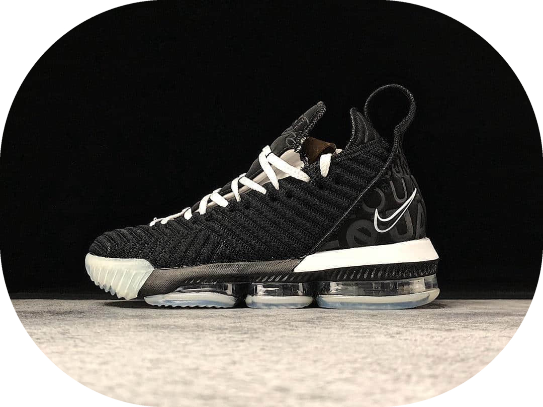 Nike Lebron Xvi EP黑人月 耐克纯原级勒布朗詹姆斯16黑白鸳鸯分离式Zoom搭载真纤维实战篮球鞋 货号:BQ5970-101