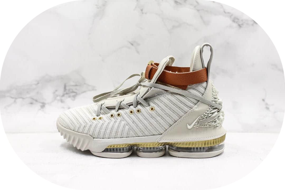 Nike Lebron Xvi EP米白 耐克纯原级勒布朗詹姆斯16代原盒原标原厂钢印雄狮浮雕 货号:BQ6583-100