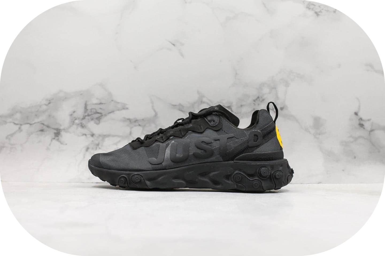 耐克Nike Upcoming React Element 55 CPFM JDI黑色绿钩笑脸纯原级版本原厂气垫霓虹灯React缓震大底休闲运动鞋 货号:CI8001-001