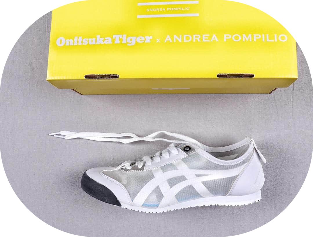 亚瑟士Onitsuka Tigee X Andrea Pompilio真标高品质鬼冢虎联名款复古休闲运动鞋