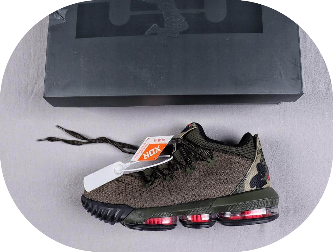 耐克Nike Lebron XVI Low EP纯原版本勒布朗詹姆斯16代篮球战靴原厂缓震科技纤维气垫支持实战 货号:CI2669-300