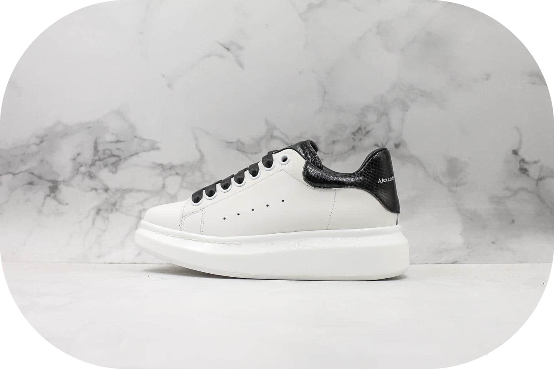 麦昆Alexander Mcqueen 2019纯原版本黑色蛇纹全新版本原鞋开模一比一打造区别市面通货版本