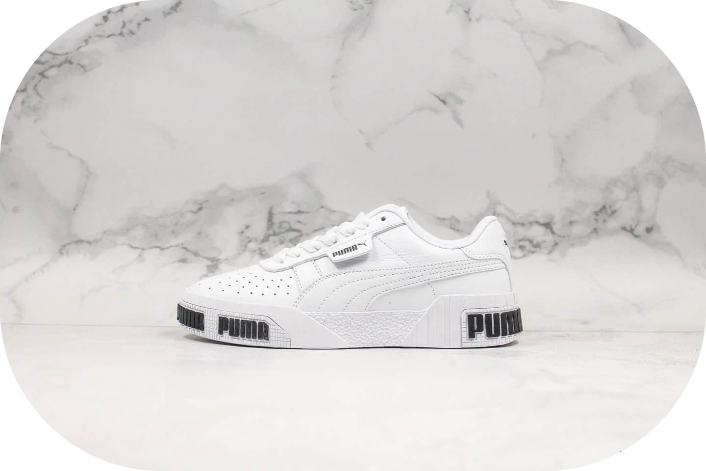 彪马Puma Cali Wins三明治厚底松糕鞋复古板鞋黑白公司级进口皮料原盒原标 货号:370811-01