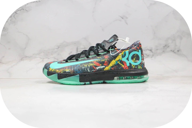 耐克Nike Zoom KD VI EP SJX纯原版本杜兰特6代蓝绿色篮球鞋内置气垫支持实战 货号:647781-930