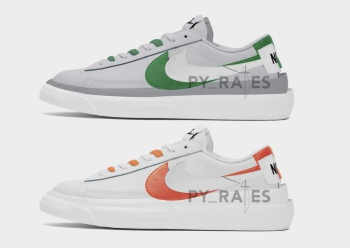 Sacai x Nike新联名渲染图曝光!还是熟悉的解构手法!