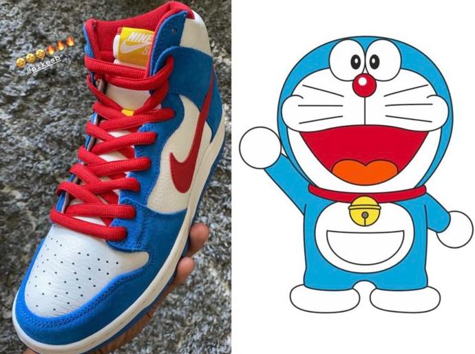 庆祝哆啦 A 梦诞生50周年!机器猫Nike SB Dunk High惊艳亮相!