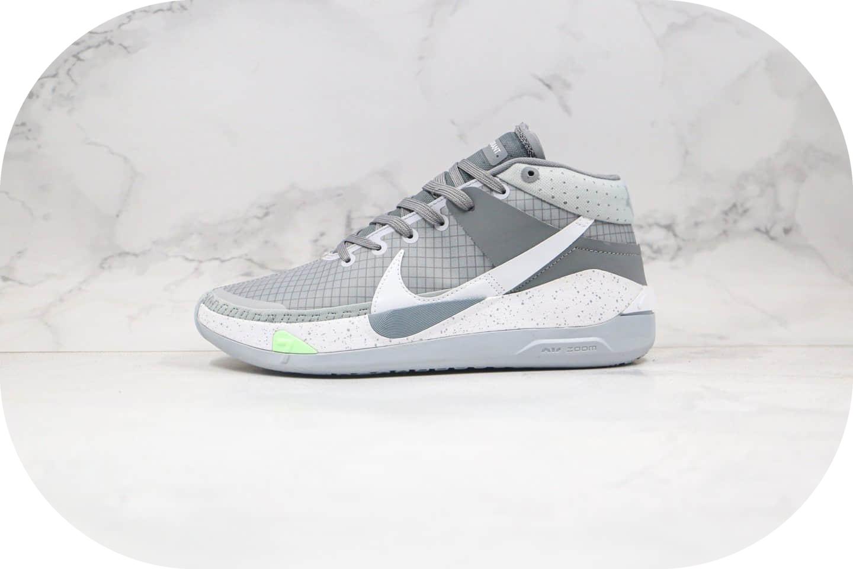 耐克Nike Zoom KD13 EP纯原版本杜兰特13代实战篮球鞋灰白色内置Zoom气垫原楦头纸板打造 货号:CK6017-001