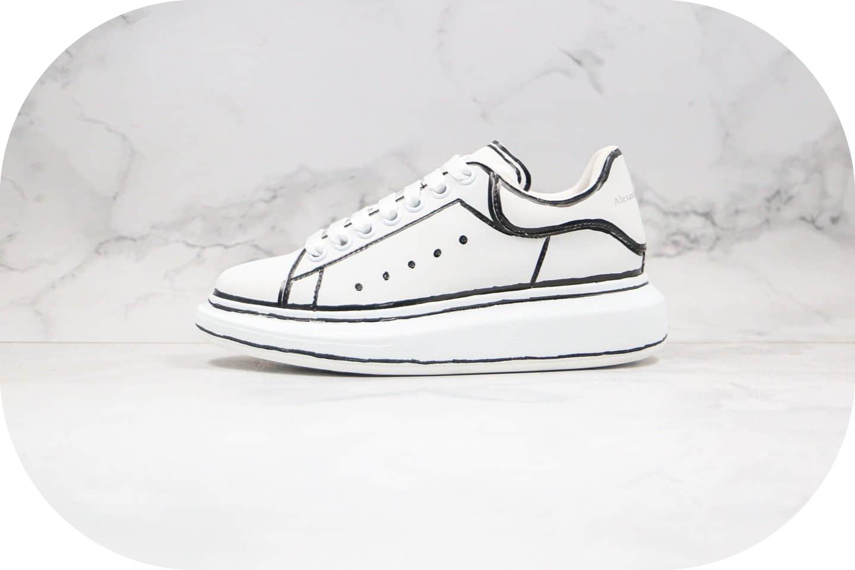 亚历山大Alexander McQueen纯原版本麦昆二次元涂鸦小白鞋原盒配件齐全区别市面通货版本