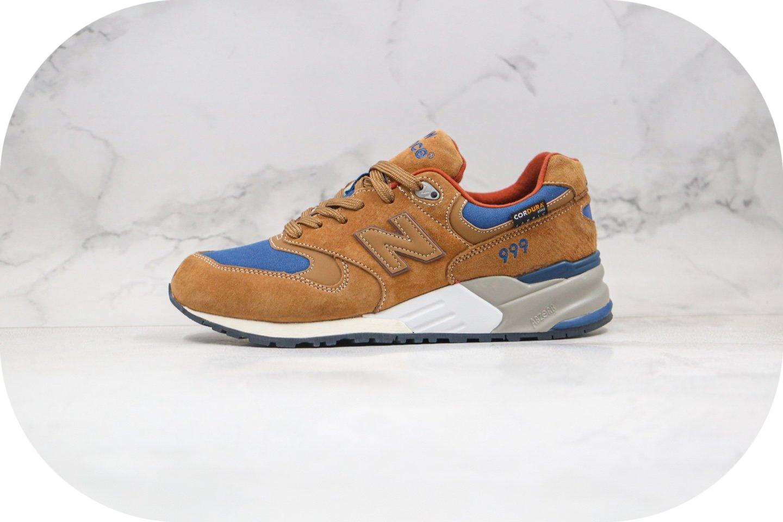 新百伦New Balance 999纯原版本复古运动鞋NB999棕色原装套楦 货号:ML999BC