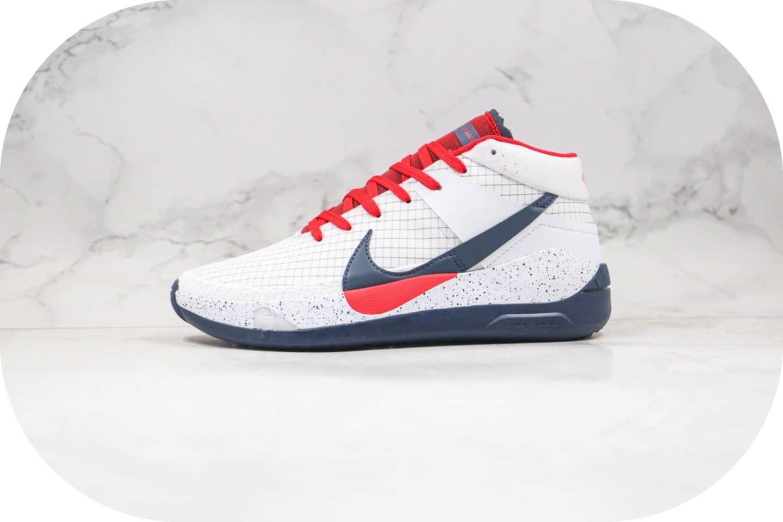 耐克Nike Zoom KD13 EP纯原版本杜兰特13代篮球鞋白黑红色内置气垫支持实战 货号:CI9948-101