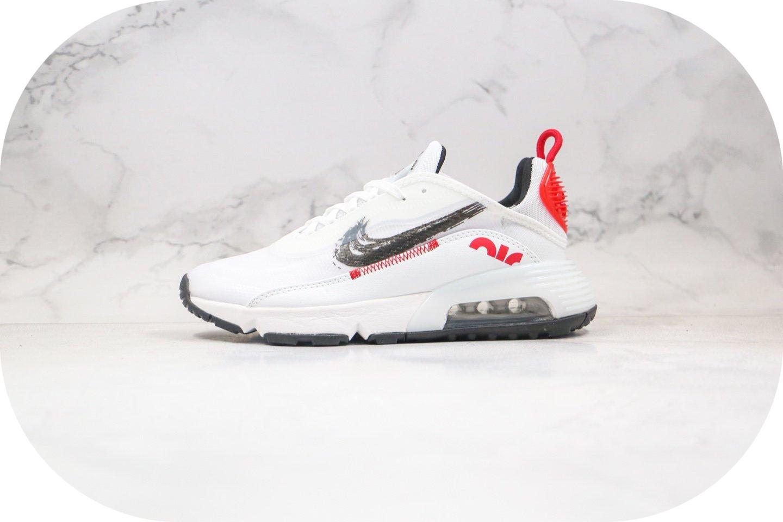耐克Nike Air Max 2090纯原版本王一博同款Max2090黑红手稿配色气垫跑鞋原鞋开模一比一打造 货号:DA4304-100