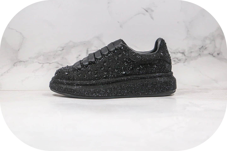 麦昆Alexander McQueen sole sneakers纯原版本厚底小白鞋黑钻原盒配件齐全原鞋开模一比一打造