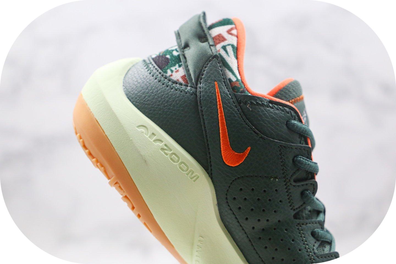 耐克Nike Zoom Freak 2纯原版本字母哥二代篮球鞋绿橙色内置气垫支持实战 货号:CK5424-301