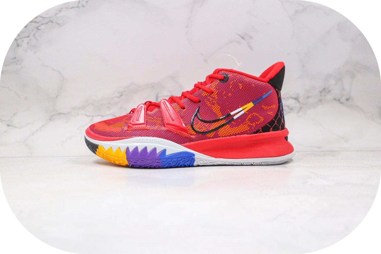 耐克Nike Kyrie 7 Pre Heat Ep纯原版本欧文7代篮球鞋红色内置气垫原盒原标 货号:DC0588-600
