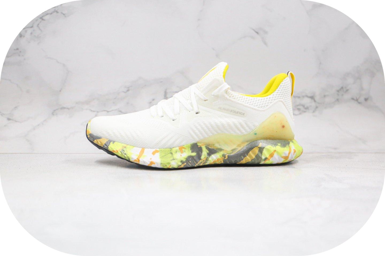 阿迪达斯Adidas Alphabounce beyond m纯原版本阿尔法十周年限定款白黄色跑鞋原盒原标 货号:CG3306