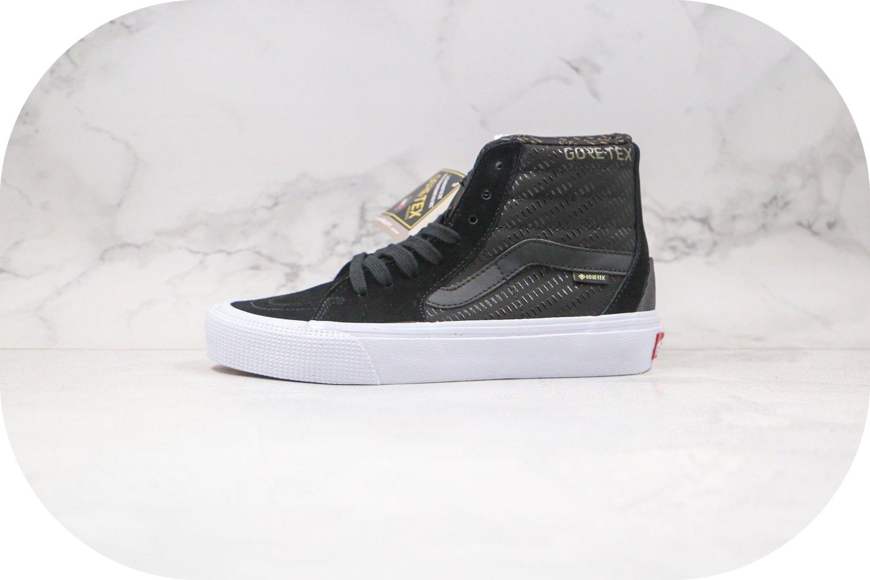 万斯Vans Sk8-HI Gore-Tex公司级版本高帮机能黑色TEX硫化板鞋原鞋开模一比一打造