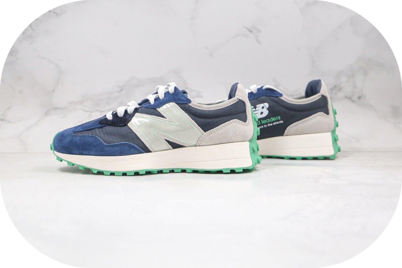 新百伦New Balance 327纯原版本复古NB327慢跑鞋灰蓝色原档案数据开发 货号:WS327WNL