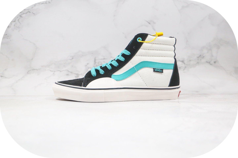 万斯VANS SK8-HI PRO FABIANA.DELFINO公司级版本高帮环保系列白黑蓝色硫化板鞋原档案数据开发 货号:VN0A45JD2MA