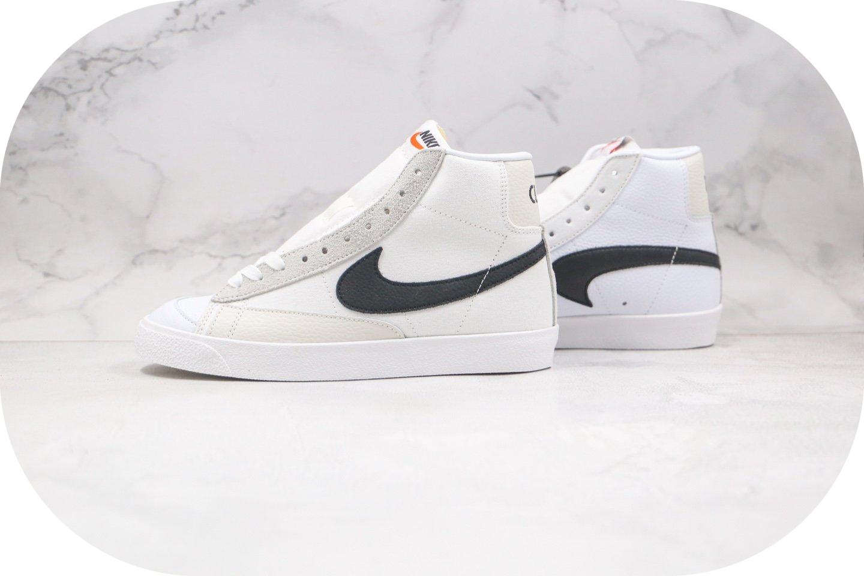 耐克Nike Blazer Mid Class 1977 x Slam Jam联名款纯原版本中帮开拓者白黑色硫化板鞋原楦头纸板打造 货号:CD8233-100