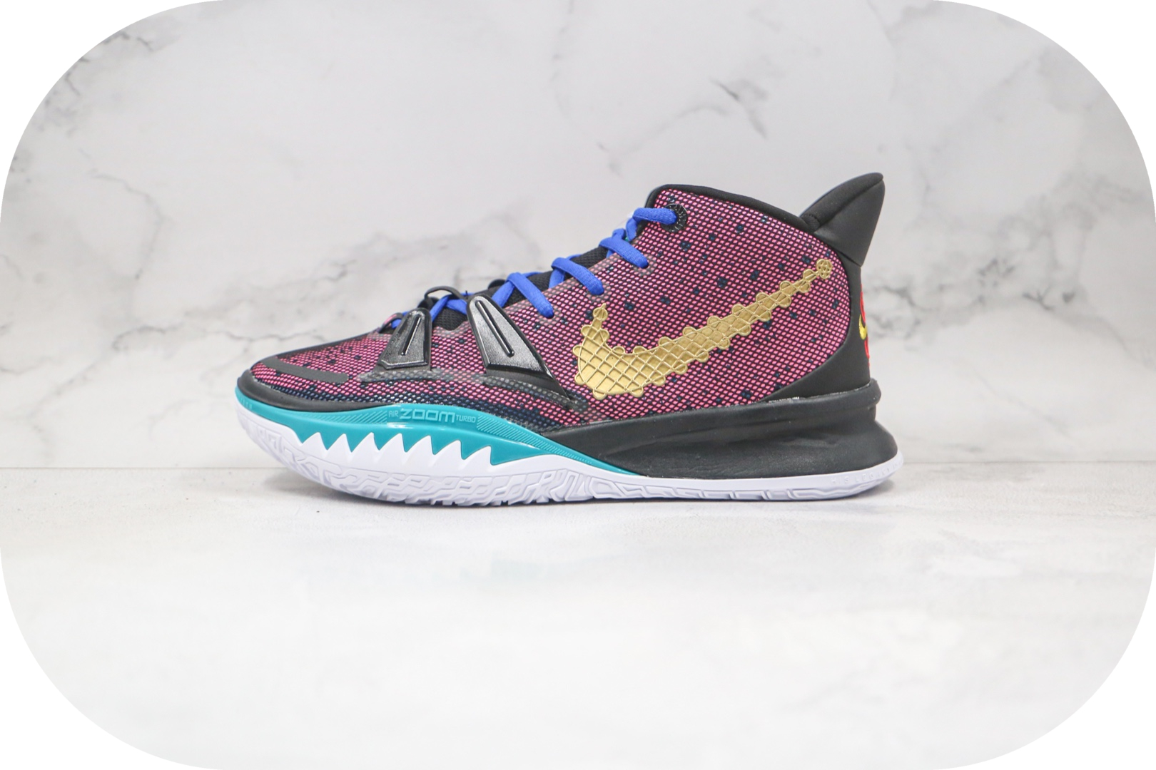 耐克Nike Kyrie 7 Pre Heat Ep纯原版本欧文7代紫金中国结配色篮球鞋内置气垫支持实战 货号:CQ9327-006