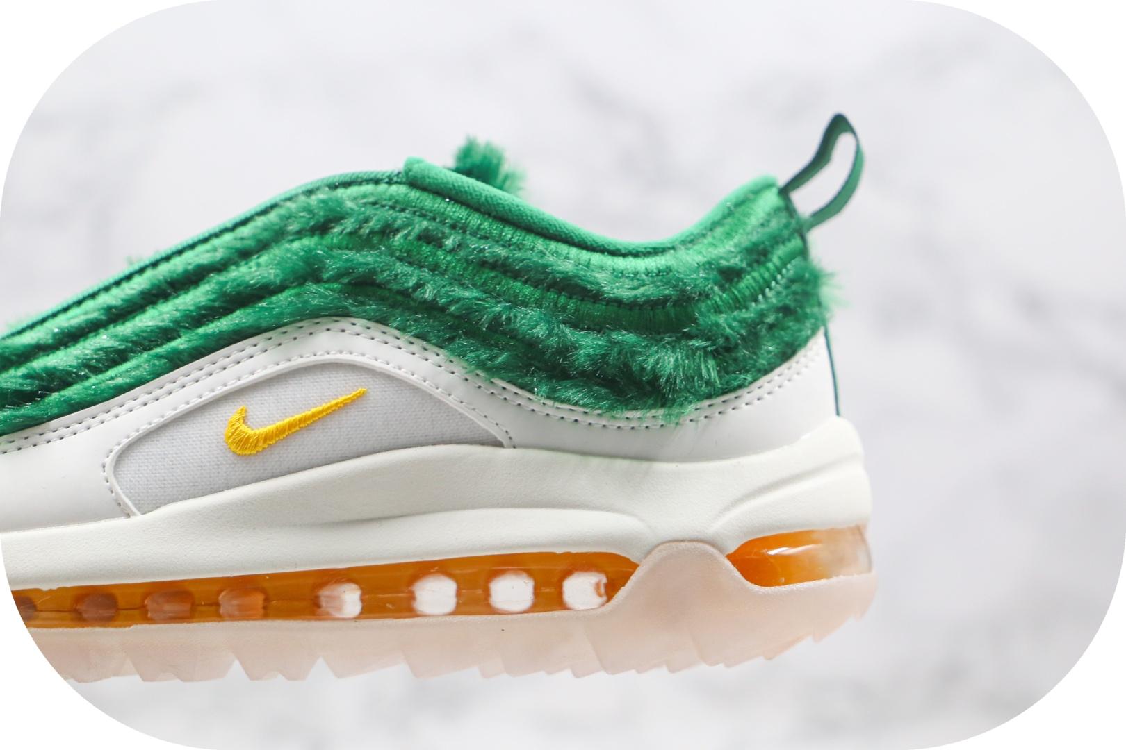 耐克Nike Golf Air Max 97纯原版本高尔夫联名款Max97气垫鞋绿草圣诞节配色原档案数据开发 货号:CK4437-100
