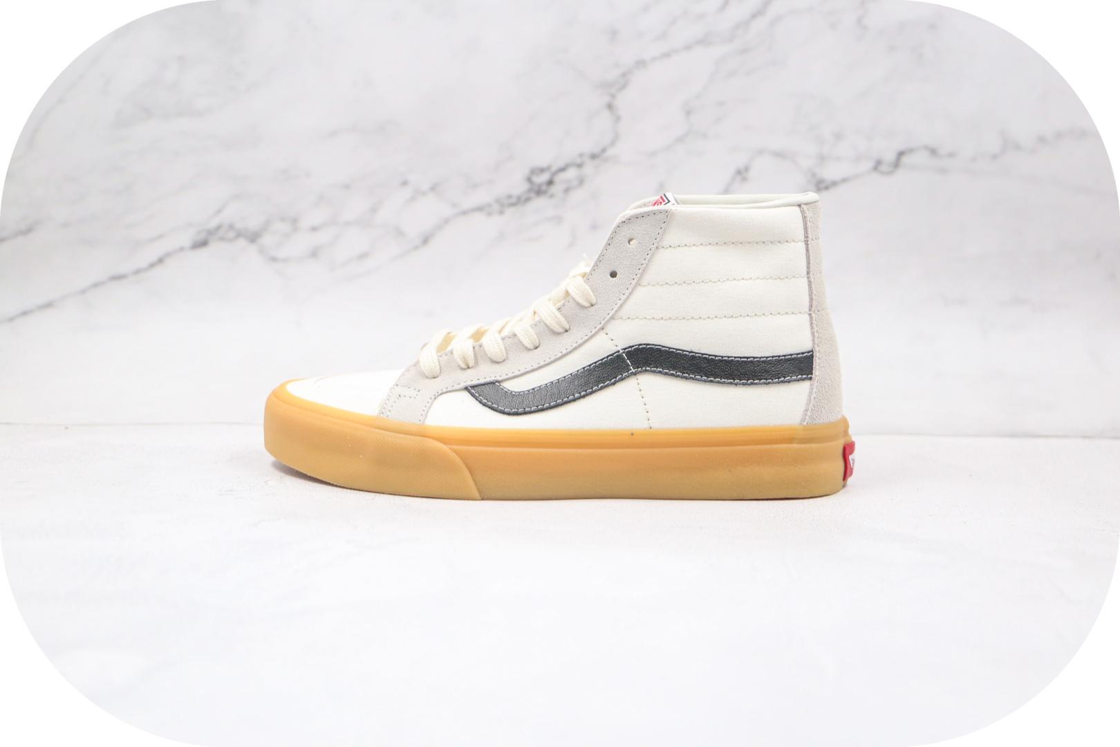 万斯Vans sk8-Hi 138 Devon SF公司级版本高帮包头奶油白黑硫化板鞋原盒原标