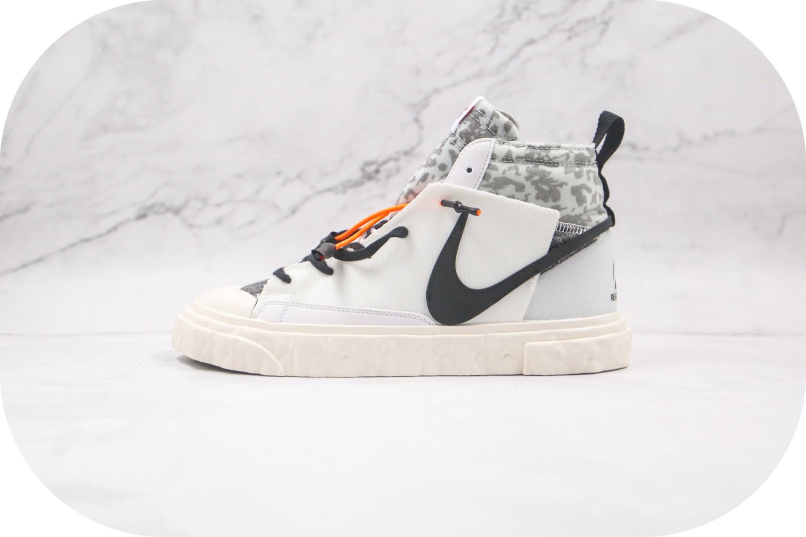 耐克Nike Blazer Mid x READYMADE联名款纯原版本开拓者解构白黑豹纹板鞋原档案数据开发 货号:CZ3589-100