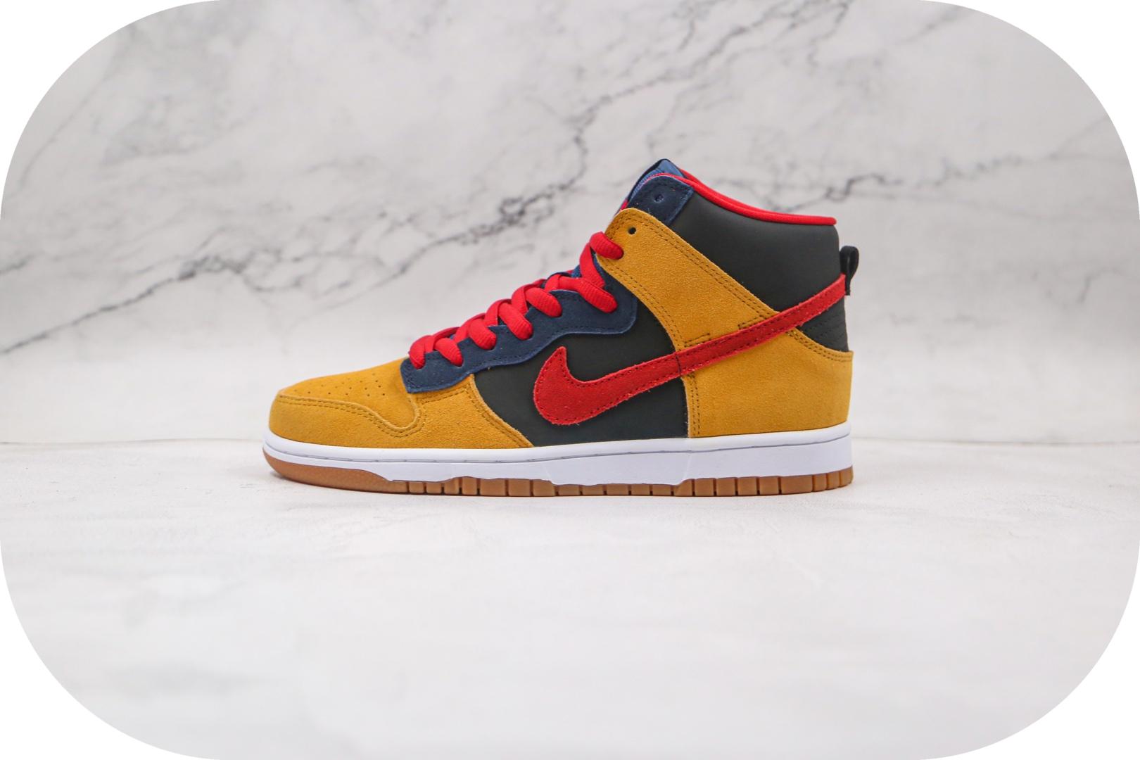 耐克Nike Dunk SB High纯原版本高帮SB DUNK帕帕熊黑黄红蓝色板鞋原楦头纸板打造 货号:313171-400封面