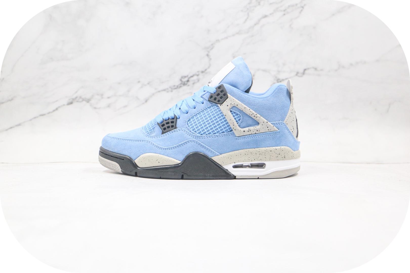 乔丹Air Jordan 4篮球鞋纯原版本AJ4大学蓝配色内置气垫正确鞋面材质 货号:CT8527-400封面