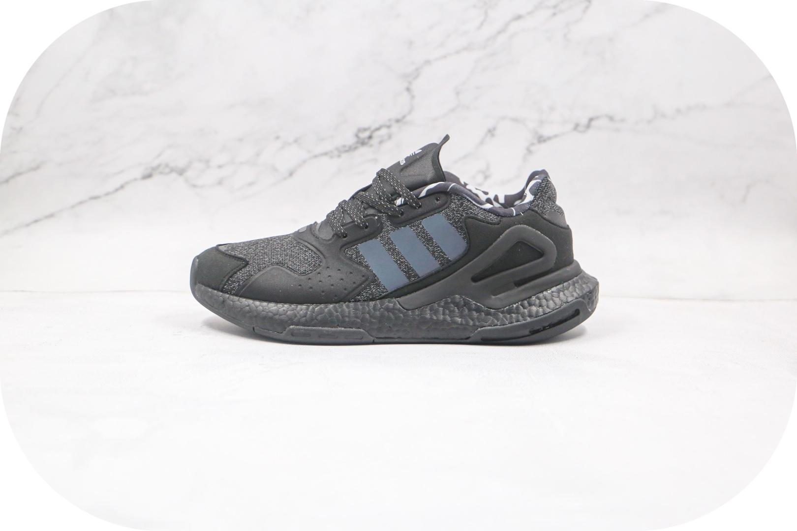 阿迪达斯Adidas Originals 2020 Day Jogger Boost 2020纯原版本三叶草夜行者二代黑满天星爆米花跑鞋原盒原标 货号:FW4830