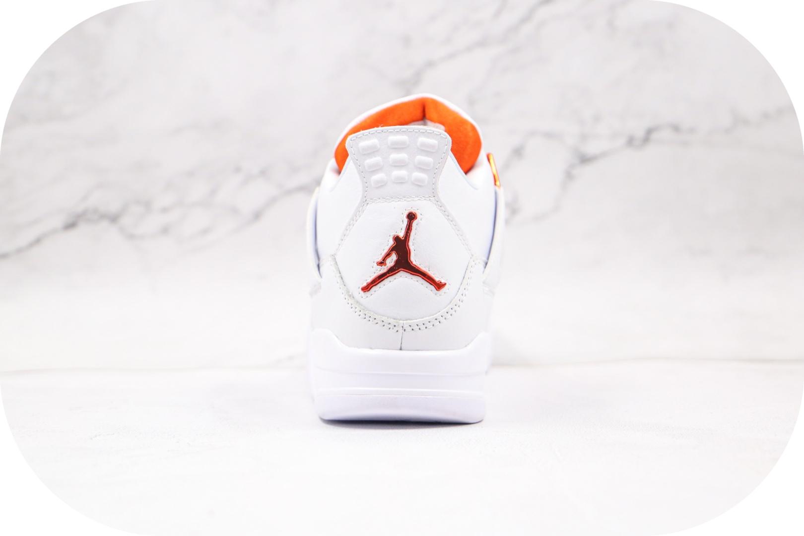 乔丹Air Jordan 4纯原版本高帮AJ4白橙篮球鞋内置气垫原盒原标 货号:CT8527-118