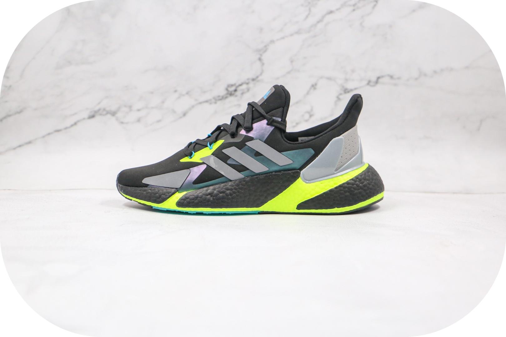 阿迪达斯Adidas X9000L4 Boost纯原版本爆米花X9000LF灰白绿跑鞋原盒原标 货号:FW8385封面