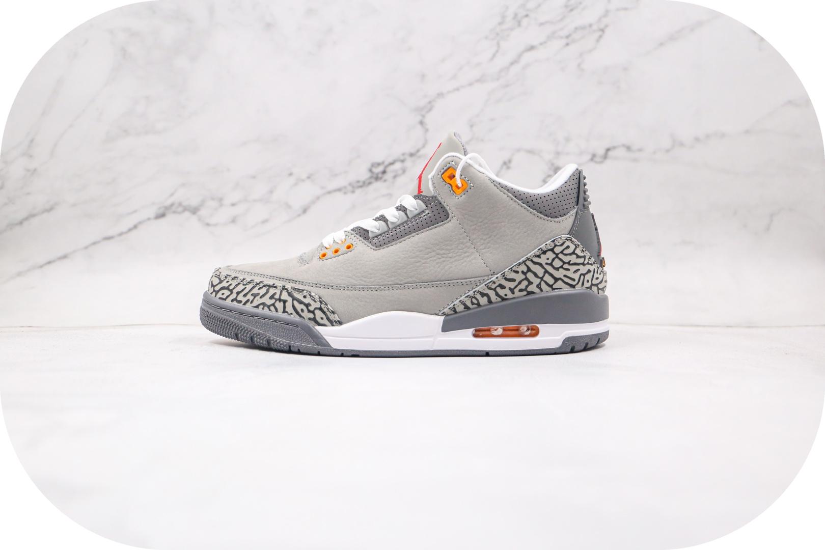 乔丹Air Jordan 3 Cool Grey 2020纯原版本酷灰色AJ3篮球鞋原楦头纸板打造 货号:CT8532-012封面