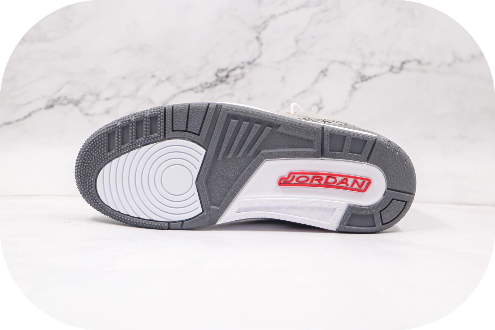 乔丹Air Jordan 3 Cool Grey 2020纯原版本酷灰色AJ3篮球鞋原楦头纸板打造 货号:CT8532-012