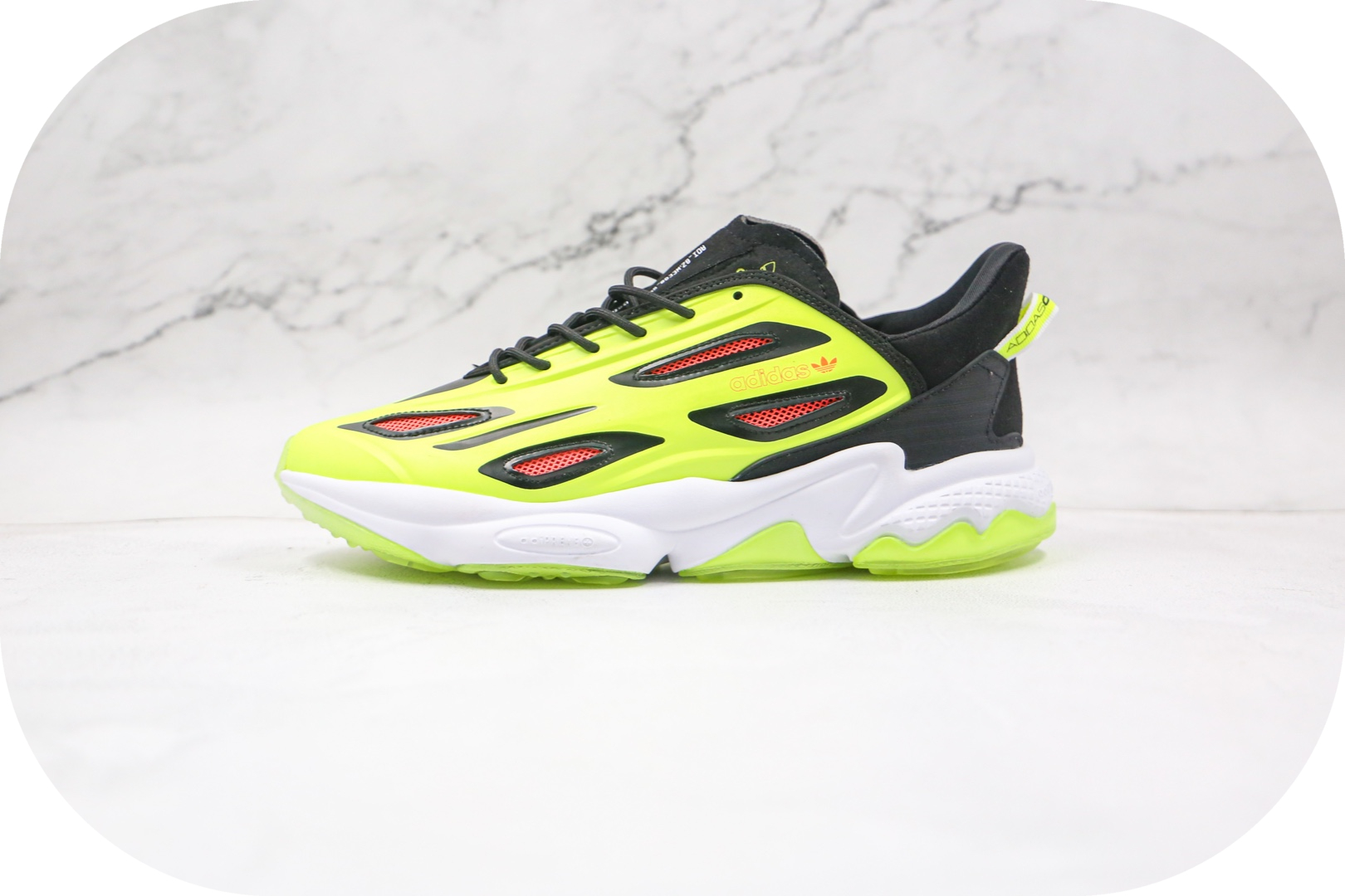 阿迪达斯Adidas Ozweego adiPENE纯原版本水管老爹鞋二代荧光绿原档案数据开发 货号:H68622
