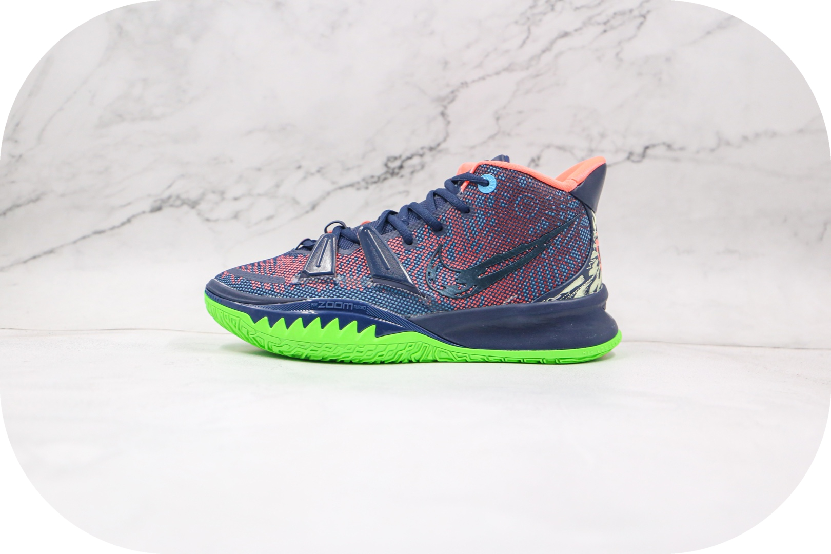 耐克Nike Kyrie 7纯原版本欧文7代深蓝色篮球鞋内置气垫支持实战 货号:CQ9327-401