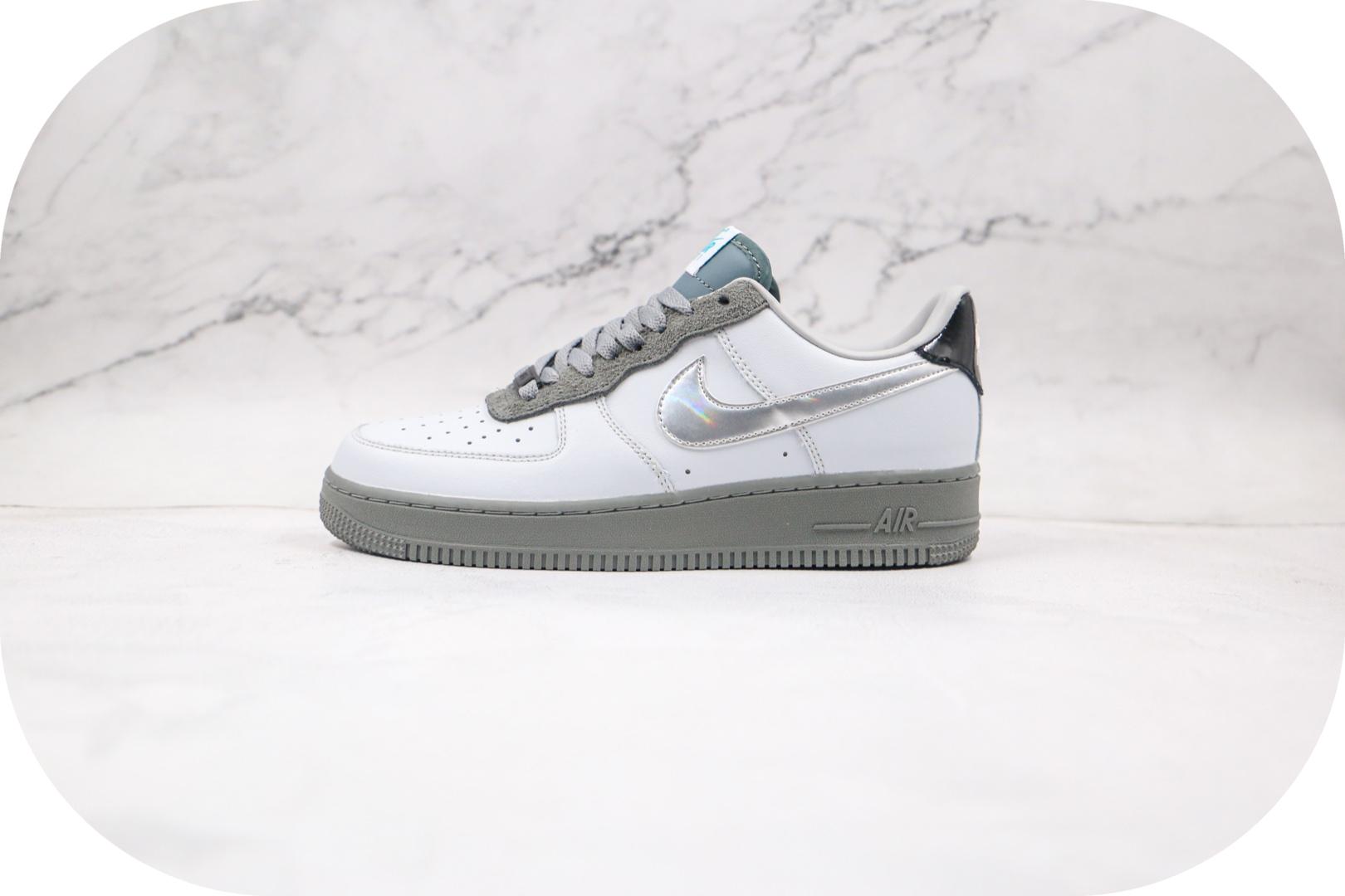 耐克Nike Air Force 1 Low 07 University纯原版本低帮空军一号白银灰色板鞋内置气垫 货号:DC1163-100