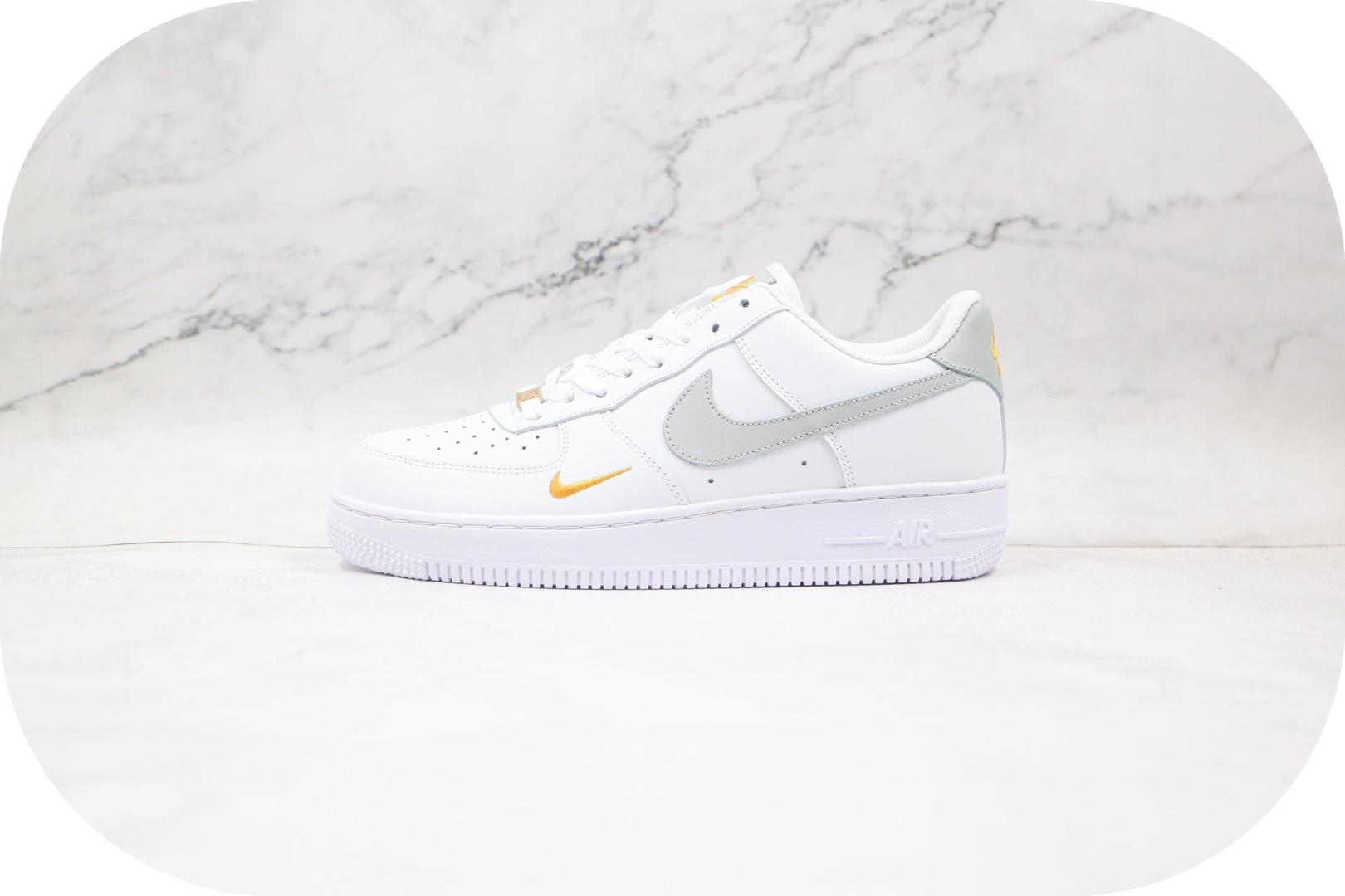 耐克Nike AIR FMRCE 1纯原版本低帮空军一号白灰黄色双钩板鞋内置气垫 货号:CZ0270-106