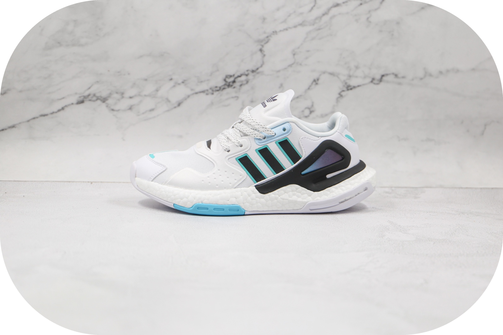阿迪达斯Adidas Day Jogger 2020 Boost纯原版本夜行者二代炫彩边白黑色爆米花跑鞋原盒原标 货号:GZ2716