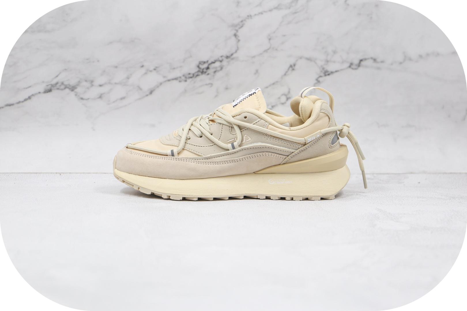 斐乐FILA Heritage纯原版本征峰者系列米白色老爹鞋原楦头纸板打造