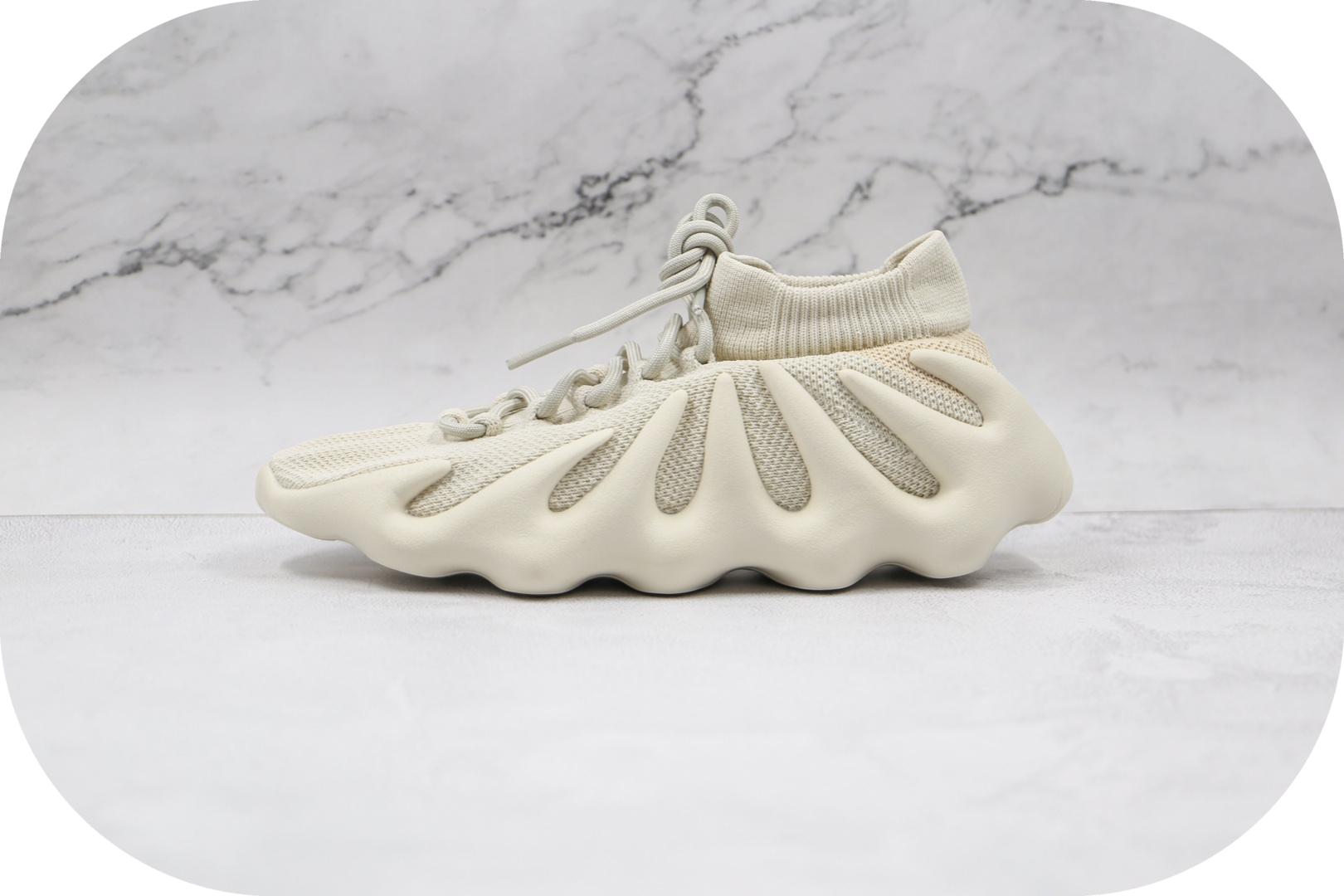 阿迪达斯Adidas Yeezy 450 Sample纯原版本椰子450白色火山编织袜套鞋原盒原标 货号:H68038