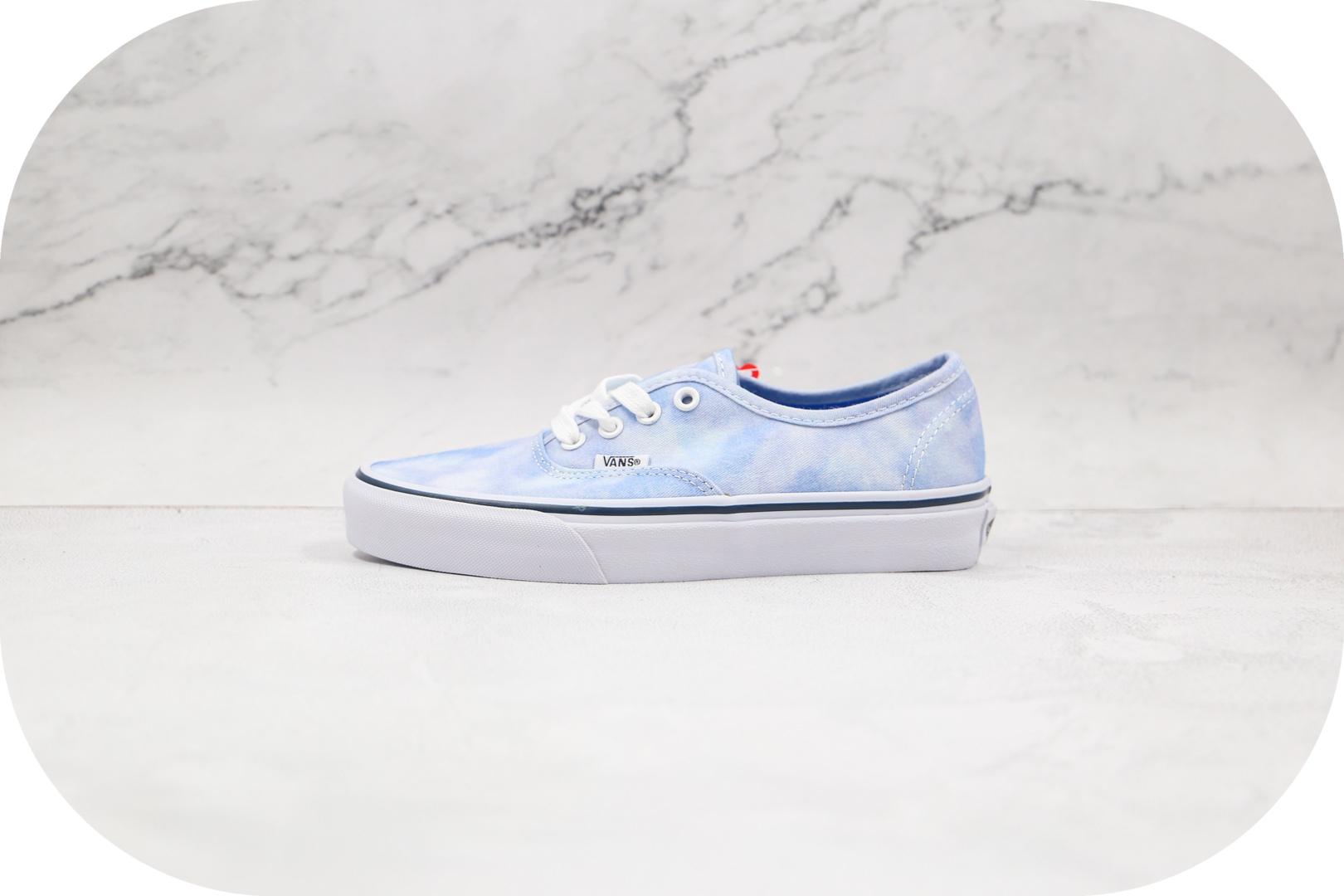 万斯Vans Authentic Lx公司级版本低帮硫化板鞋扎染帆布鞋蓝天白云奶蓝色原厂档案开发