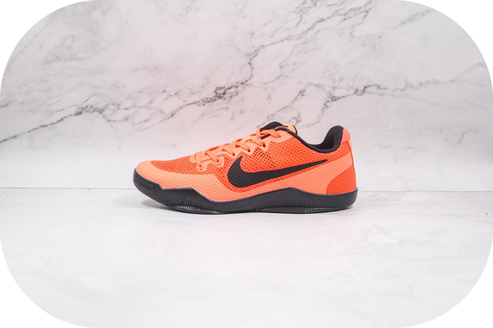 耐克Nike Kobe 11 EM纯原版本科比11代橙色生胶篮球鞋原楦头纸板打造 货号:836184-806
