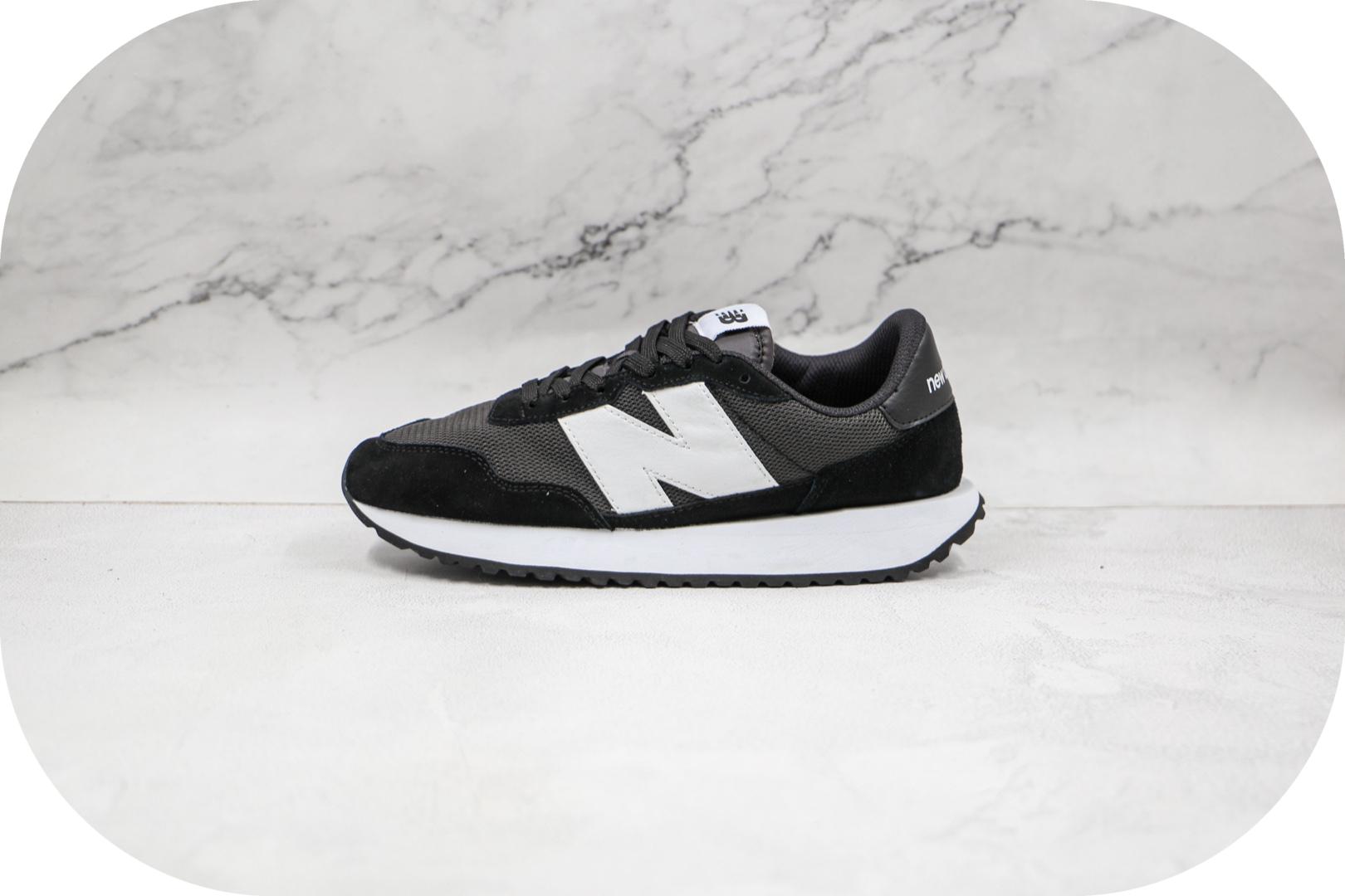 新百伦New Balance纯原版本网面黑白色NB237慢跑鞋原档案数据开发 货号:MS237CC