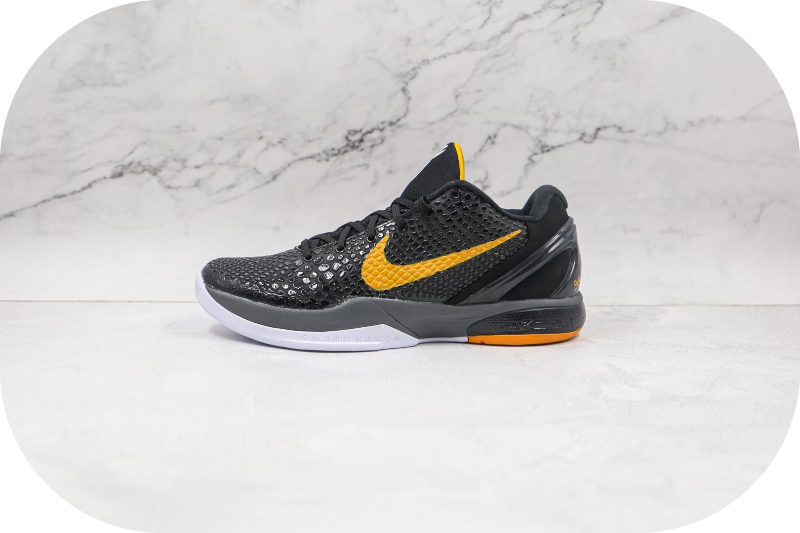 耐克Nike Zoom Kobe VI Protro Black Del Sol纯原版本科比6代黑曼巴篮球鞋内置碳板支持实战 货号:436311-002